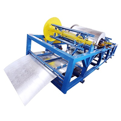 Aluminum flexible duct pipe making machine
