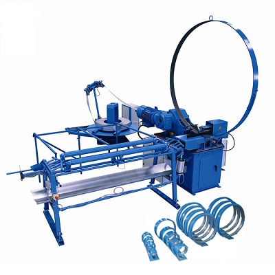 HVAC automatic spiral spiro round flexible and auto fabrication duct forming making machine