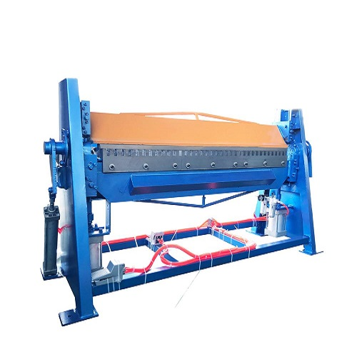 Stainless steel Pipe HVAC air duct pneumatic flange folding machine