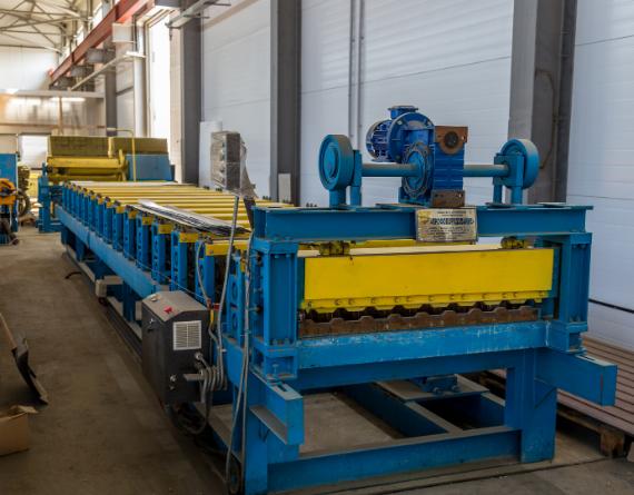 metal sheet rolling machine video image