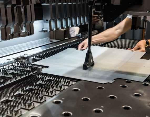 sheet metal embossing machine video image